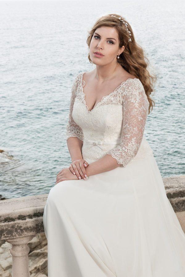 romantické šaty s rukávy